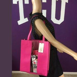 NWT Women's Transparent Stripe Tote Handbag -